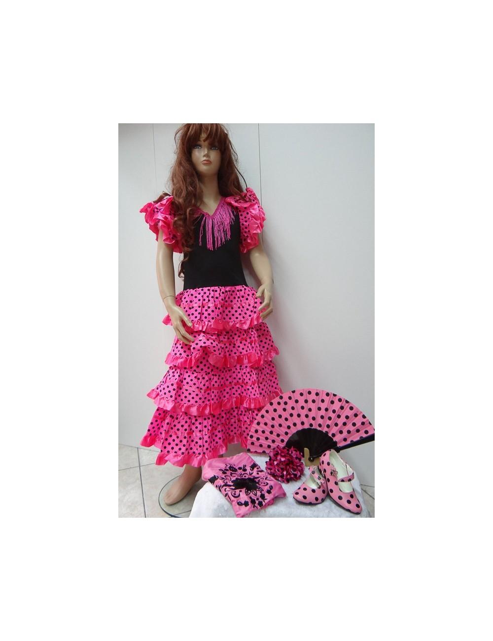 """Kit Déguisement robe """"espagnole"""" & accessoires 12"""