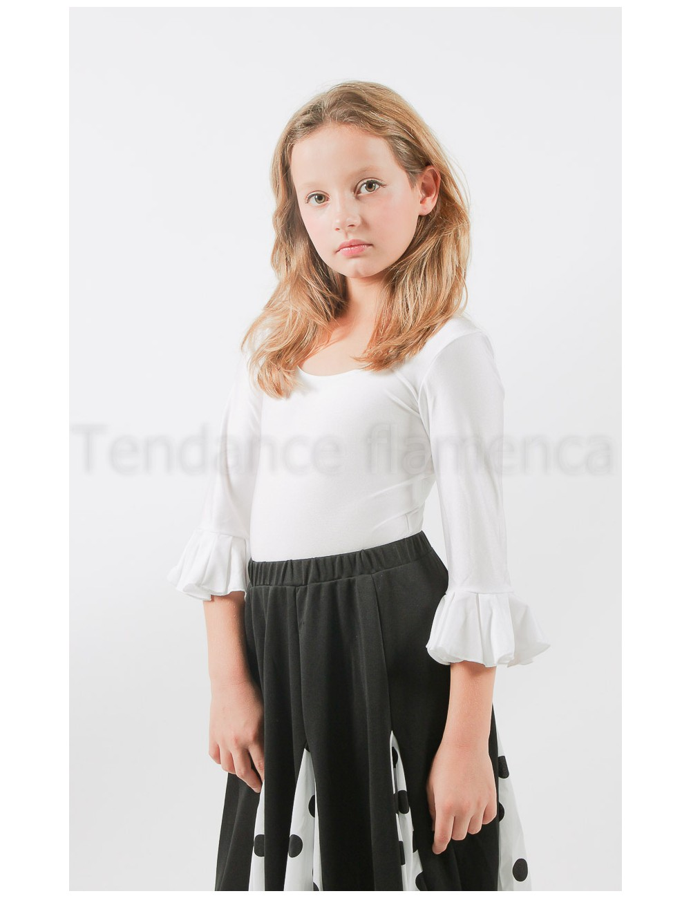 Body enfant flamenco blanc