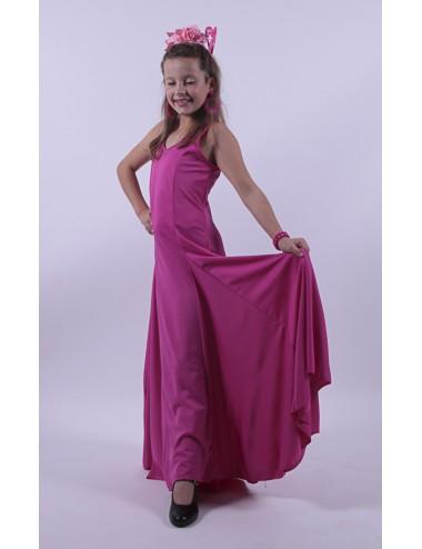 robe de sevillane enfant rose fuchsia ,grande ampleur