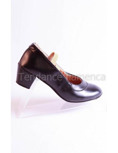Chaussure noire à clous -2