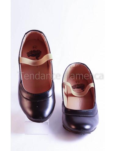 Chaussure noire à clous -1