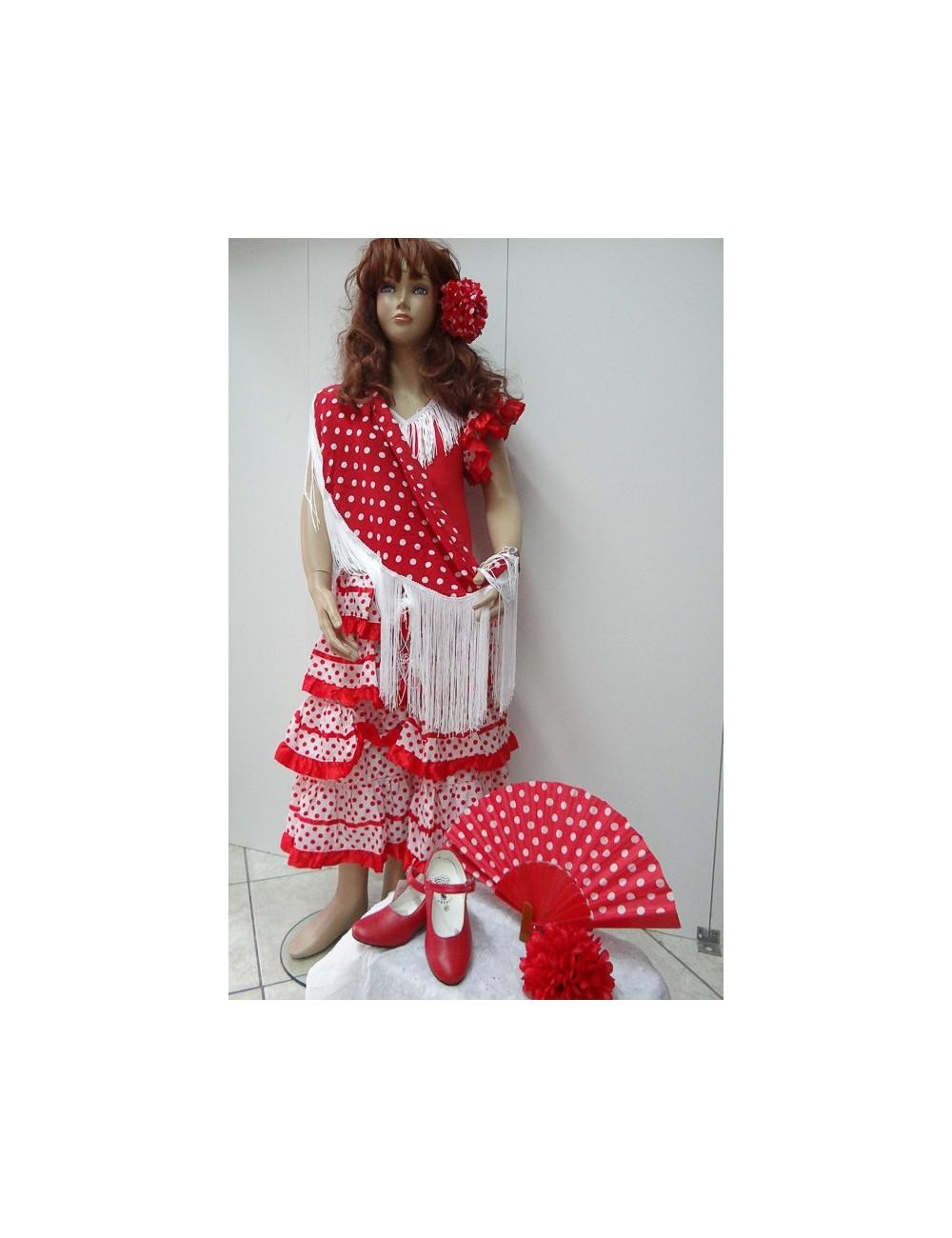 Kit Déguisement robe flamenco & accessoires 14