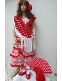 Déguisement kit Robes Rouge pois blanc