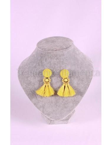 Boucles d'oreilles fils à fils N°2 Jaune
