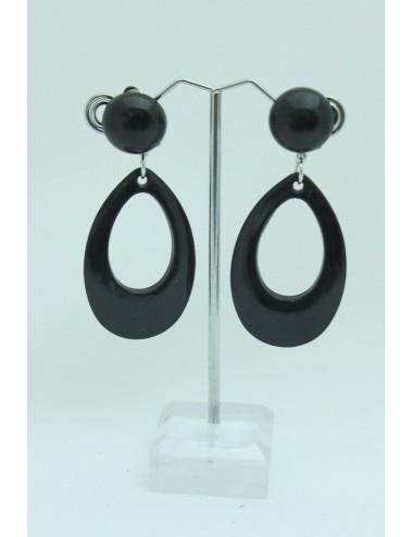 Boucles d'oreilles Enfants noire