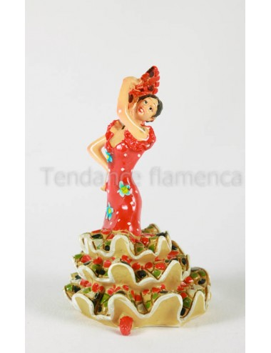 Figurine danseuse multicolor