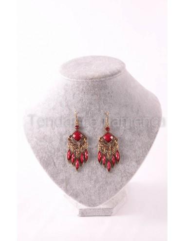 Boucles d'oreilles flamenca rouges 2