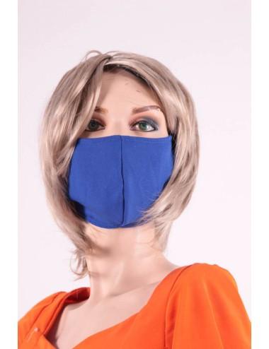 masque covid 19 bleu roy