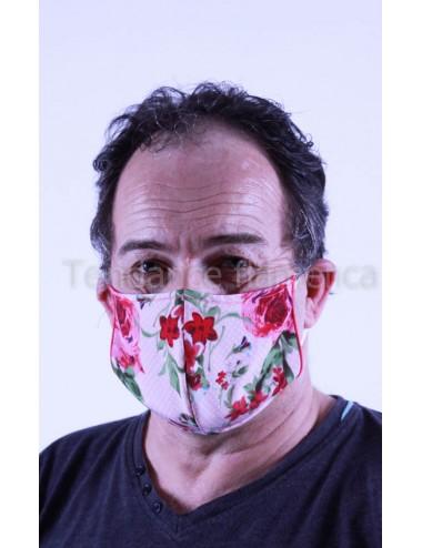 Masque covid 19 Homme couleur fleuri