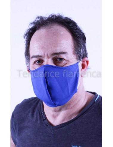 Masque covid 19 Homme couleur bleu roy