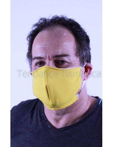 Masque covid 19 Homme couleur jaune