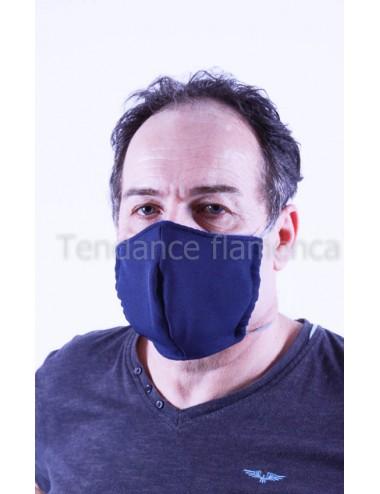 Masque covid 19 Homme couleur bleu marine