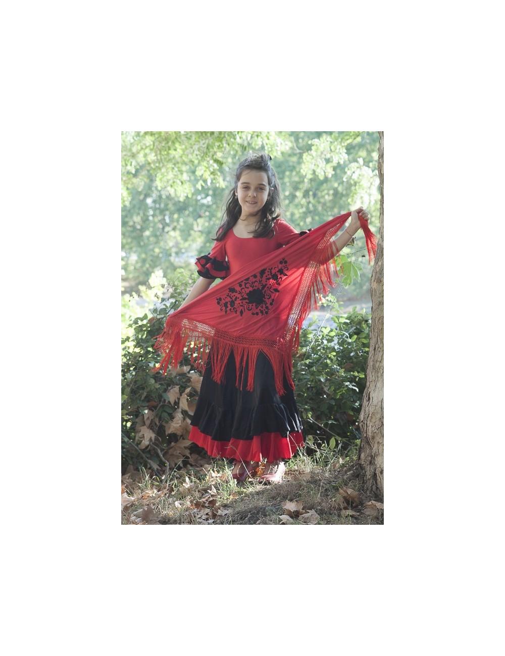 Jupe d'entrainement flamenco enfant Becky