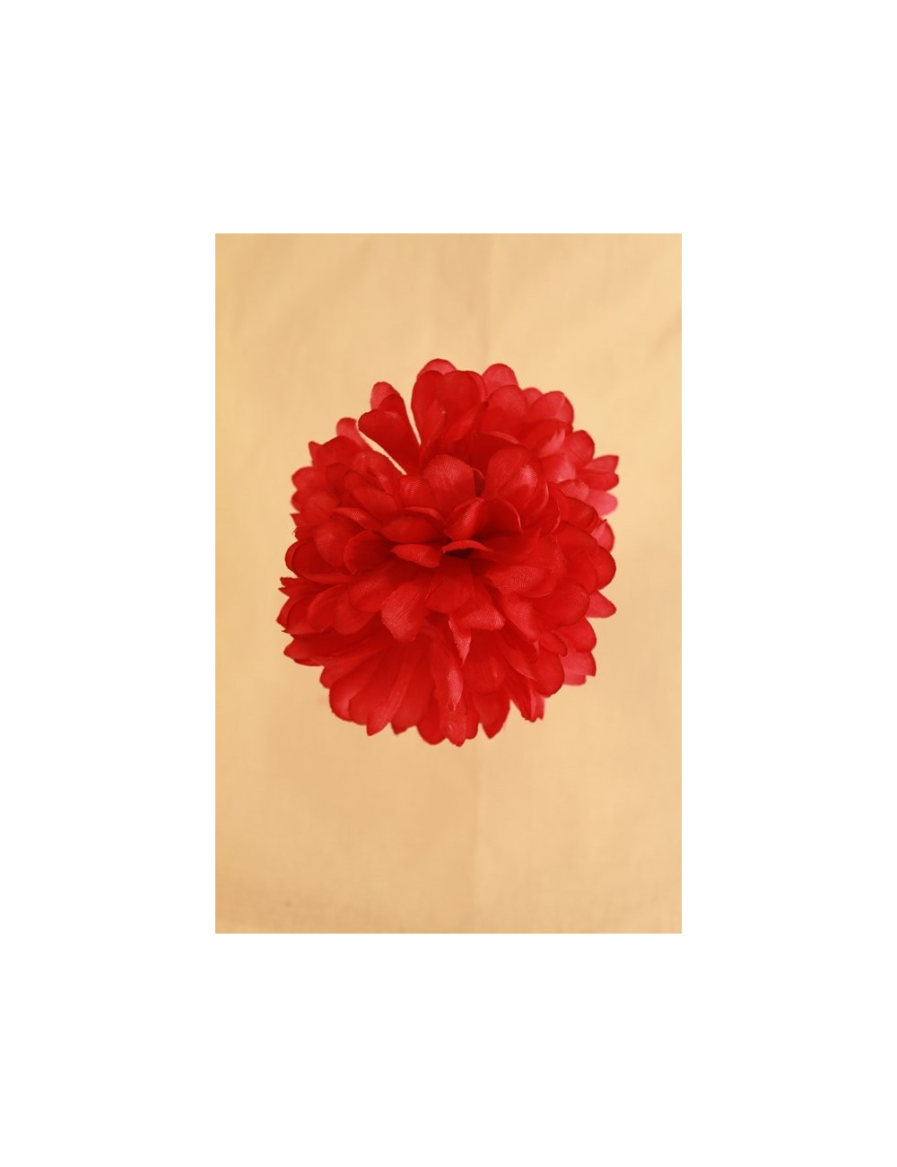 Fleur flamenco à pince uni 8 cm