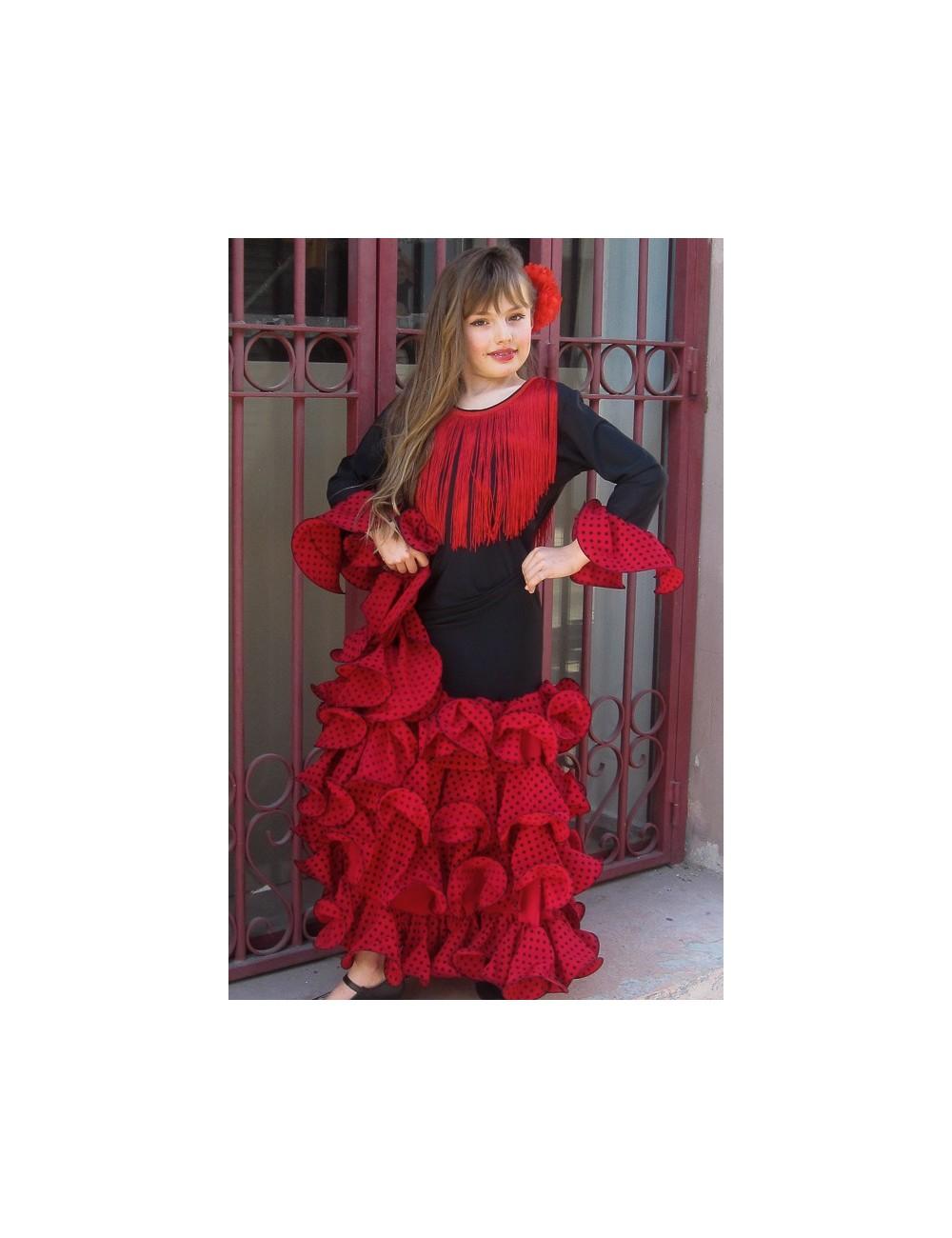 "Robe ""espagnole"" fille Noella Tella Rouge Noire"