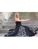 Robe d'entraînement Flamenco Yoremy noire pois blancs Anita