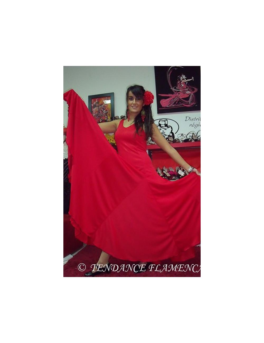 Vestido de Flamenca roja Anita