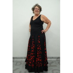 Vestido de flamenco negro grande Yoremy Anita