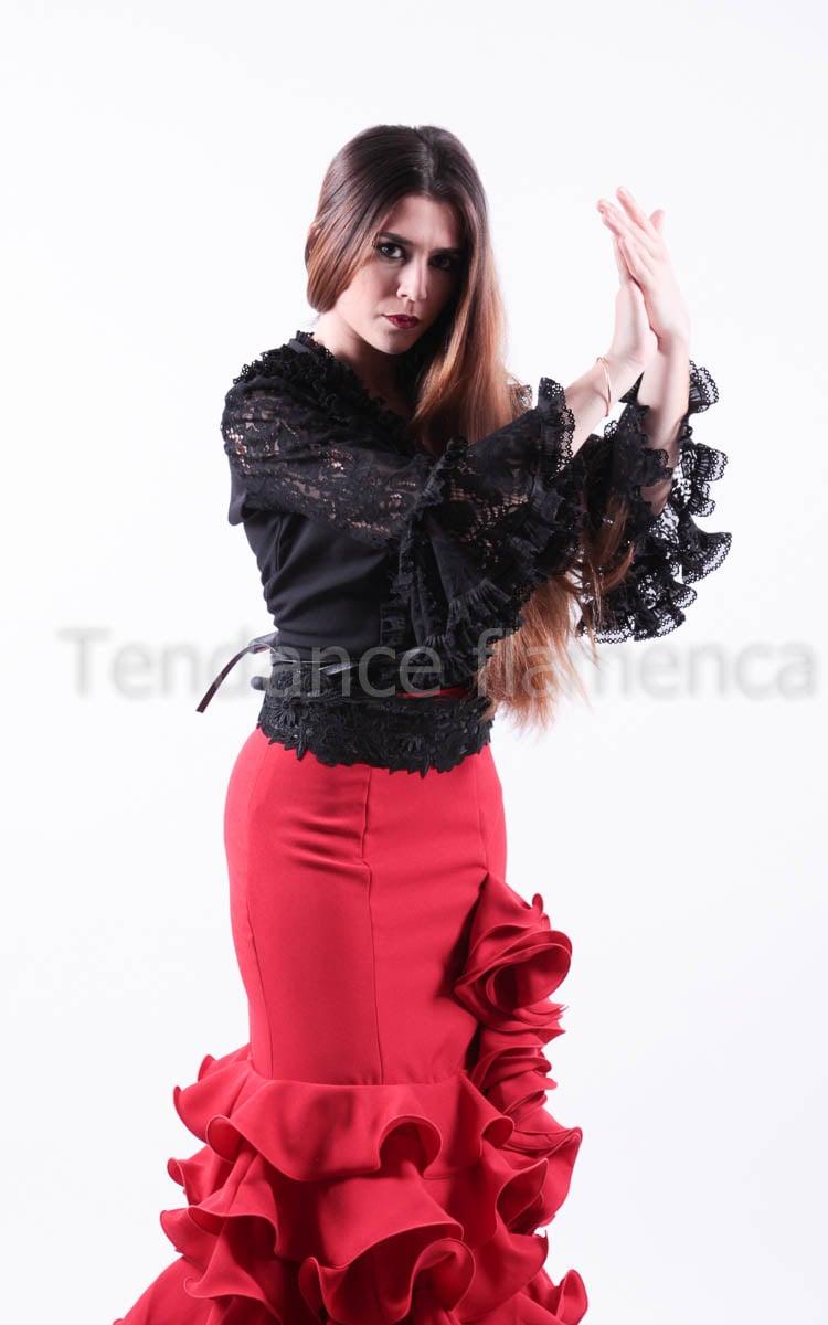 Haut Flamenca en dentelle